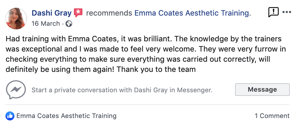 Emma Coates Mesotherapy Training
