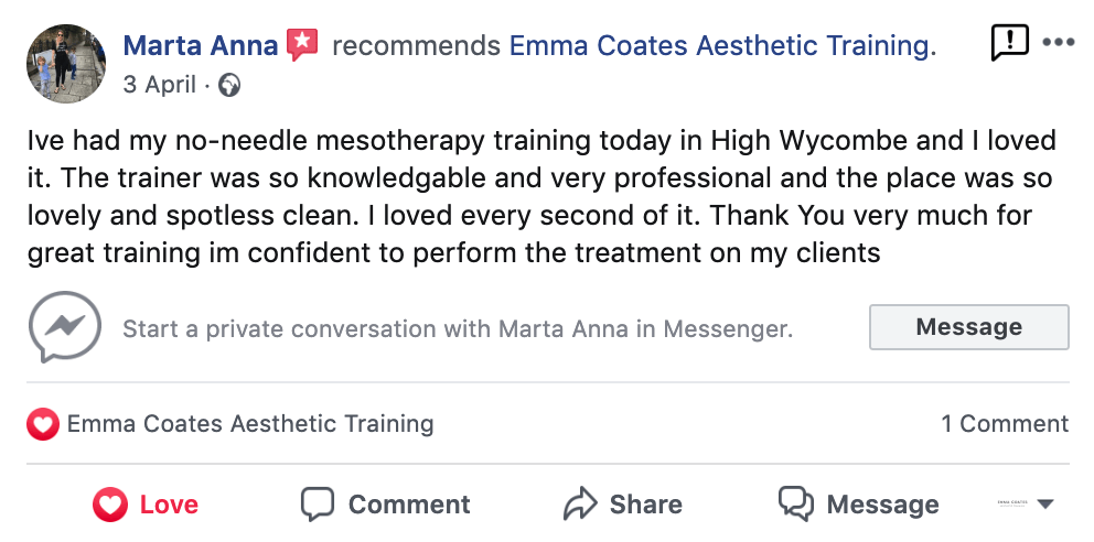 Mesotherapy Training Course with Emma Coates